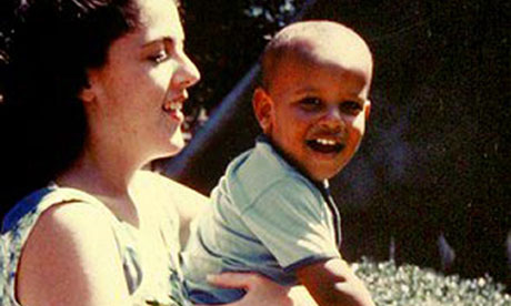 Barack Obama with mother Ann Dunham