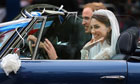 Prince William and Kate Middleton in Aston Martin