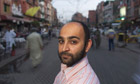 Mohsin Hamid on Anarkali Street in Lahore, Pakistan