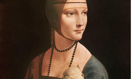 <Lady with an Ermine> by Leonardo da Vinci