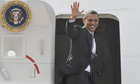 President Obama leaves UK
