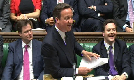 david cameron funny. David Cameron in parliament