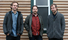 Brassland label founders Bryce Dessner, Alec Hanley Bemis and Aaron Dessner. 