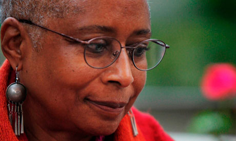 US writer Alice Walker in Gaza City in 2009.