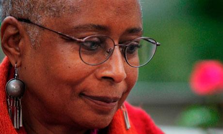 US writer Alice Walker in Gaza City in 2009.