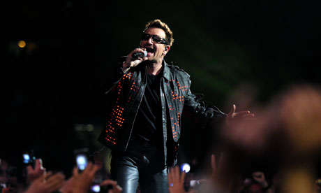 Bono on stage