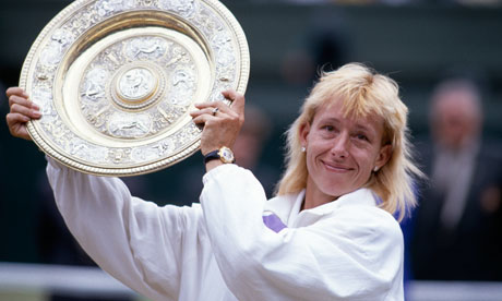 martina navratilova is the most famous female tennis player of all time defecting to the us from communist czechoslavakia at just 18 navratilova