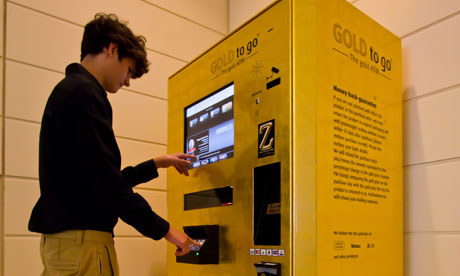 golden vending machine