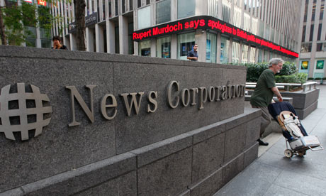News Corp's headquarters in New York