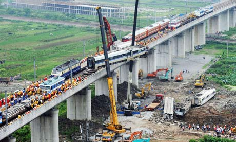 Chinese rail crash