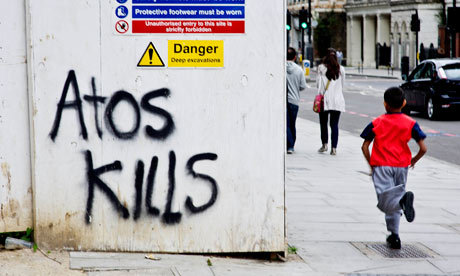 Atos Kills grafitti on Hampstead Road London