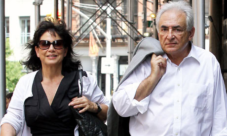 Dominique Strauss-Kahn and Anne Sinclair out in New York