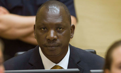 Thomas Lubanga during his trial. (Photo Courtesy of Reuters.)