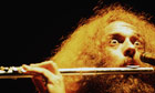 IAN ANDERSON of JETHRO TULL playing the flute