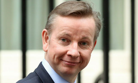 Michael Gove, education minister