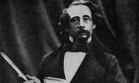 Charles Dickens giving a reading