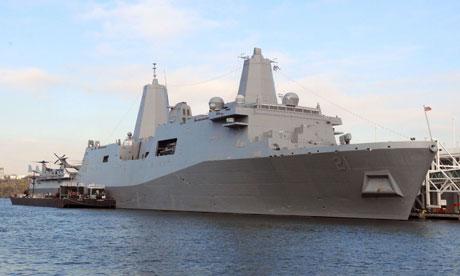 USS New York docked in New York, America - 03 Nov 2009