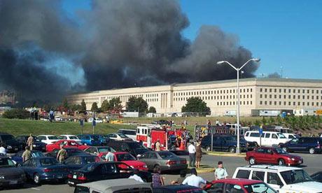 September 11 Pentagon after plane attack