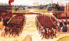 15th century illustration, battle of Agincourt