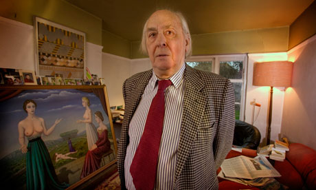 The late JG Ballard at home
