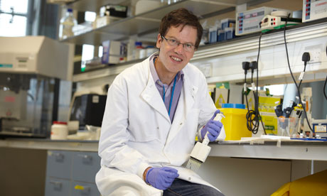 Professor Philippe Froguel in his laboratory in Hammersmith hospital, London.