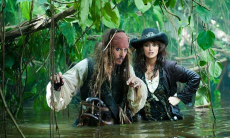 Johnny Depp and Penélope Cruz in Pirates of the Caribbean: On Stranger Tides