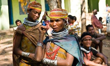 Members of the Bonda people, in Orissa, India