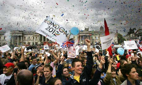 Londoners celebrate as the announcement