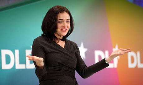 Facebook's chief operating officer, Sheryl Sandberg, speaking in Munich