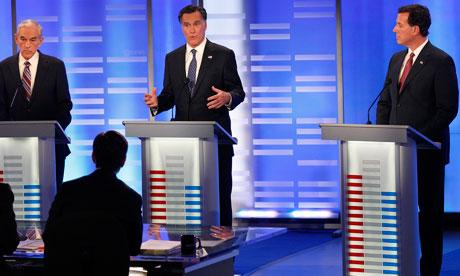 Mitt Romney, Rick Santorum, Ron Paul