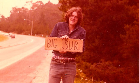 Mark Ellen in June 1977 as he hitchhiked withhis girlfriend to Big Sur in California.