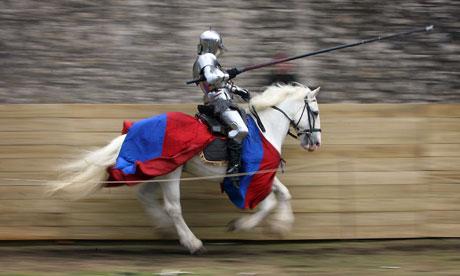 Man in knight's costume