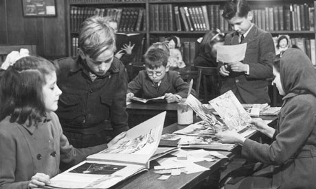 Children in a public library, 1946