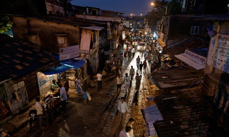 Slum near the airport in Mumbai
