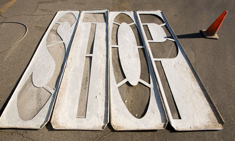 Wood stencils for painting STOP