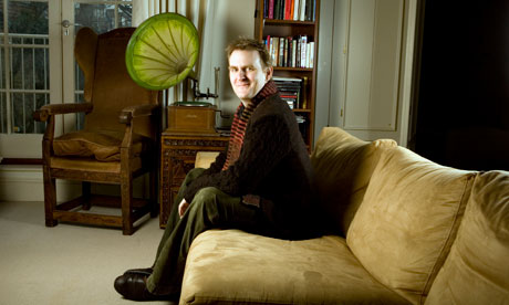 Nick Harkaway photographed at his home in Hampstead, London.