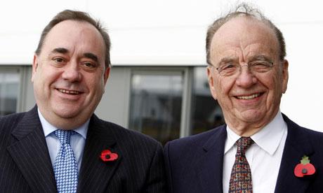 Rupert Murdoch and Alex Salmond (