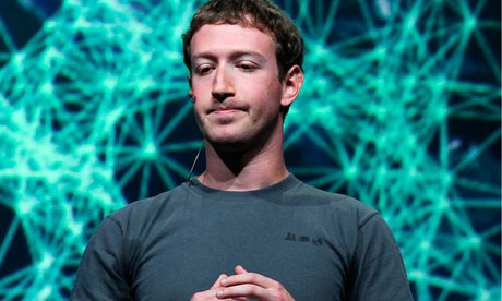 Mark Zuckerberg speaking at a conference in in San Francisco, September 2011.