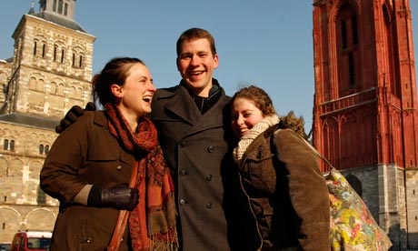 Maastrict University students Dani Older,  Colin Behr, Theresa Bullock
