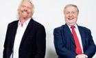 Richard Branson (left) and Ian Blair