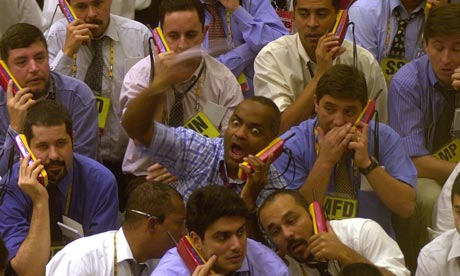 Currency traders in Brazil's futures and commodities market in São Paulo.