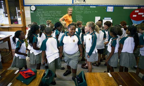 South African schoolchildren