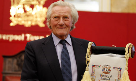 Freedom of Liverpool for Heseltine