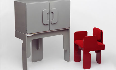 Cabinet and chair, designed by Max Clendinning, 1965