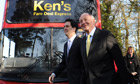 Labour leader Ed Miliband and London Mayor candidate Ken Livingstone
