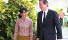 David Cameron in Burma