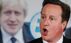 David Cameron speaks during London Mayor Johnson's re-election campaign rally in Orpington