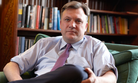 Shadow chancellor Ed Balls in his House of Commons office