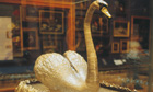Silver swan at Bowes Museum