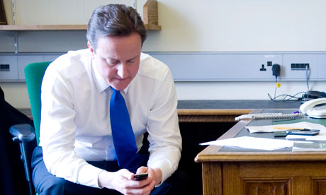 David Cameron texting shortcuts Rebekah Wade